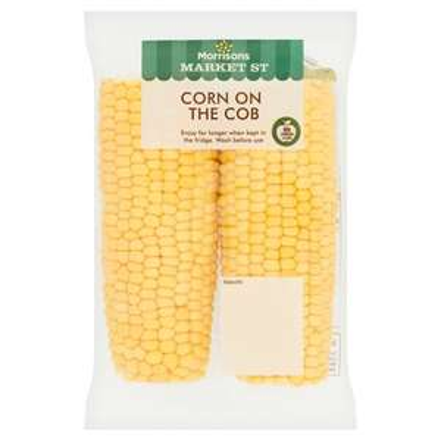 Morrisons Sweetcorn Cobs 2 Pack 59p @ Morrisons