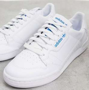 adidas Originals Continental 80 trainers in white & bluebird - £29.12 delivered at ASOS