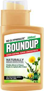 Roundup Naturals Weed Killer - CONCENTRATE (Glyphosate-Free) - 280 ml £8.99 Amazon Prime / £13.48 Non Prime