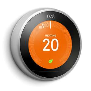 Google Nest Learning Thermostat, 3rd Generation, Stainless Steel £165 @ Amazon