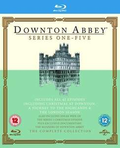 Downton Abbey - Series 1-5 Blu-Ray £11.79 delivered @ Music Magpie