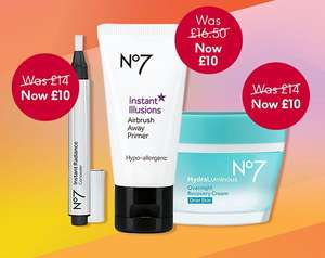 £10 Tuesday & No7 3 for 2 deal stack @ Boots