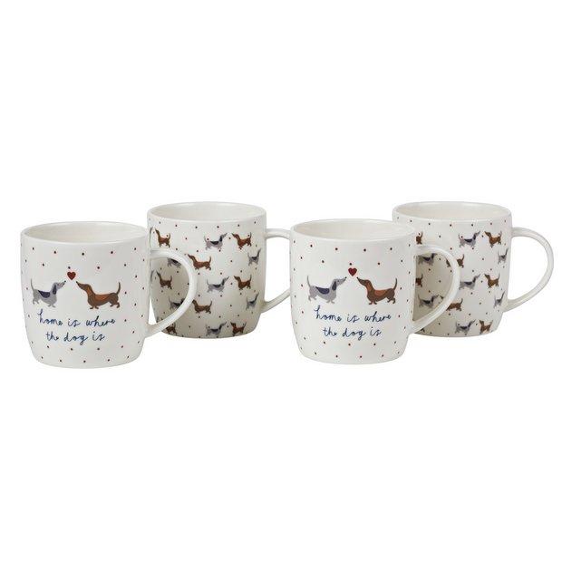 Argos Home Set of 4 Spotty Dachshund Mugs now £6 / Spotty Dachshund Lap Tray now £6 @ Argos