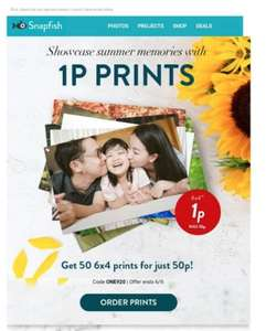 1p prints on snapfish or free delivery (only one code per order)