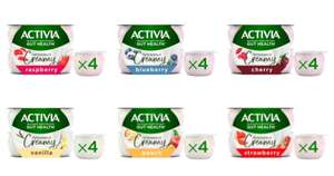Activia Intensely Creamy Strawberry Yogurts 4 x 110g Pack - ( All Varieties ) - £1.00 @ Morrisons