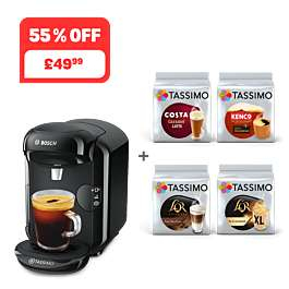 Tassimo Vivy 2 Coffee Machine with 4 packs of drinks included - £49.99 + 25% off any extra packs over £45 with code delivered @ Tassimo