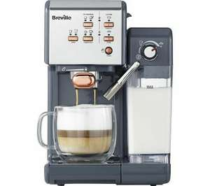 BREVILLE One-Touch VCF109 Coffee Machine - Graphite Grey & Rose Gold - £141.55 using code @ Currys PC World / eBay