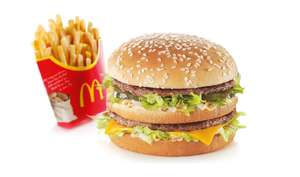 McDonald's vouchers in today's free Metro newspaper page 3 (Sep 2nd 2020) - burger/sandwich and fries or salad for £1.99