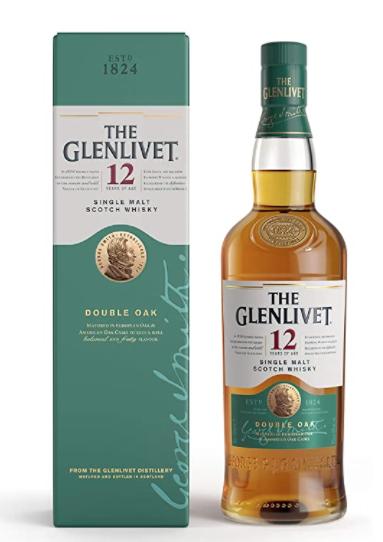 Glenlivet 12 Year Old Single Malt Scotch Whisky 70cl (Double oak) - £28.00 @ Amazon