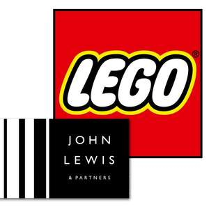 15% off £85 or 20% off £200 on Lego for JL cardholders @ John Lewis & Partners