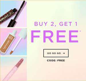 Buy 2 get one free, today only Tarte Cosmetics