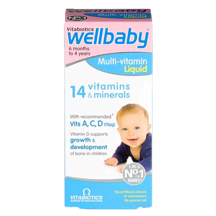 Vitabiotics Wellbaby Liquid Multivitamin 150ml £3.15 @ Holland & Barrett (free click and collect)