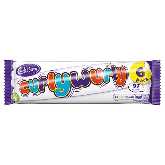 Cadbury Curly Wurly 6 Pack 129G £1 at Tesco