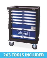 Scheppach Tool chest on wheels with 263 tools included £306.94 delivered @ Aldi