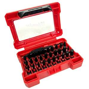 32 piece Milwaukee Shockwave Impact Screwdriver bit set in case at Amazon for £9.99