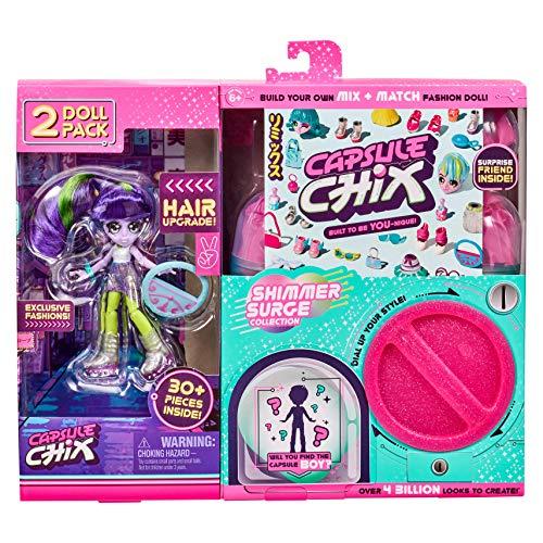Capsule Chix Shimmer Surge Surprise 2 Doll Pack £6.25 prime / £10.74 non prime @ Amazon