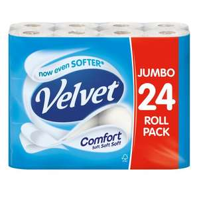 Velvet Comfort 24 Toilet Rolls instore bought Walkden store £6 @ Food Warehouse