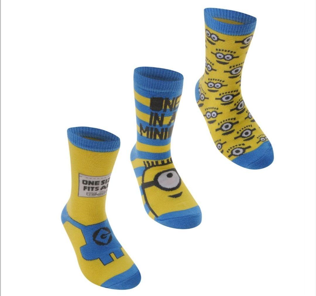 Despicable me/ minions kids socks set of 3 £1 - £4.99 del @ Sports direct