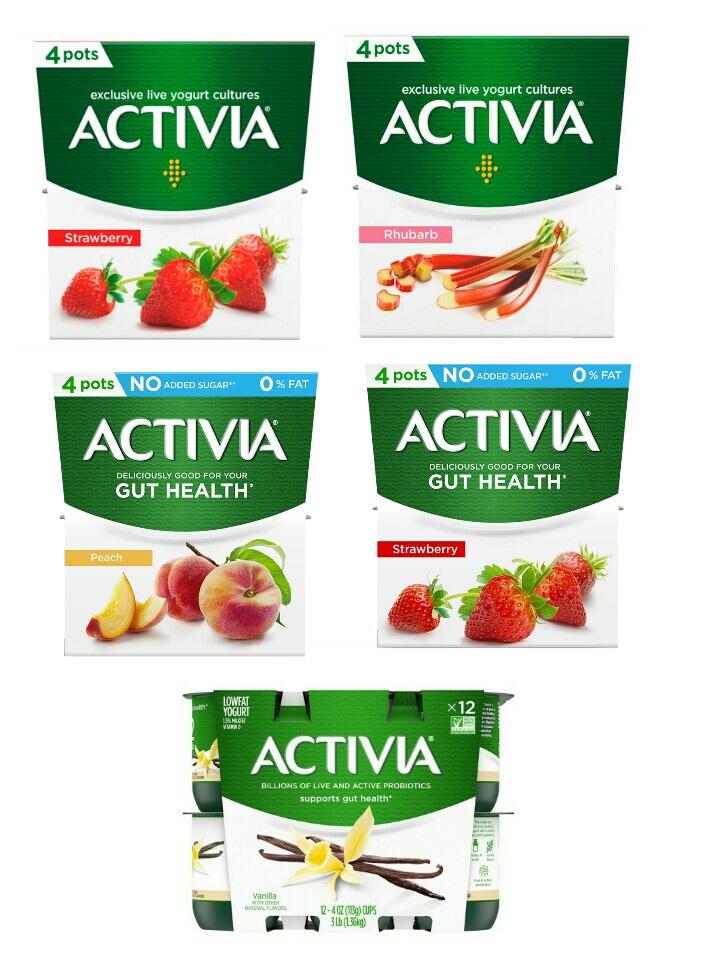 Activia yogurt 4 x 100g - Strawberry / Fat free Peach / Rhubarb / Fat Free Vanilla Vanilla / Fat Free Strawberry - £1 @ Asda