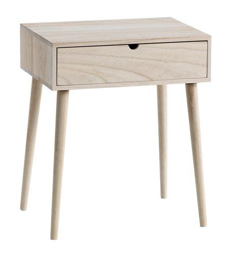 Bedside table Ilbro 1 draw natural £31.95 delivered @ JYSK