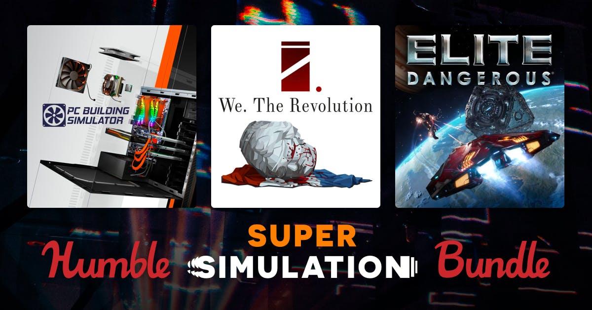 Super Simulation Bundle (PC Games - Elite Dangerous / 911 Operator/ PC Building Simulator and more) 76p onwards @ HumbleBundle