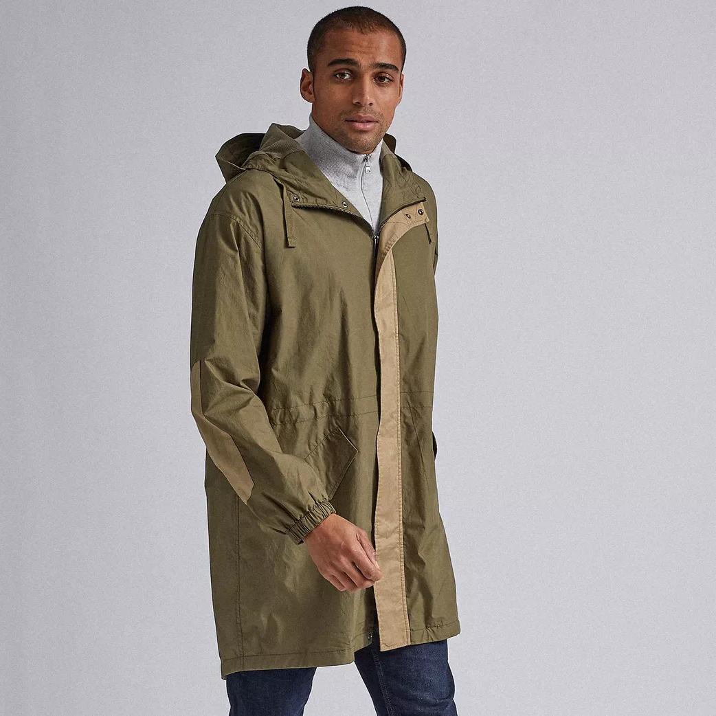 Khaki Panel Parka Jacket (was £69) Now £20 + Free click & collect @ Burton