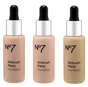 No7 Airbrush Away Foundation 30ml (was £16.50) Now £6.00 or get THREE for £12.00 @ Boots (£1.50 click & collect / Free on £20)