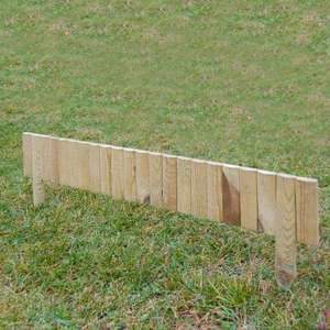 Rowlinson Log Garden Border Panel Weathered 1m for £1.49 (£5.99 delivery) @ JTF