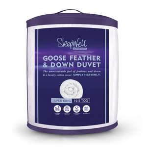 Slumberdown Sleepwell luxury 10.5 tog Goose Feather & Down double duvet for £22.99 delivered @ SleepSeeker
