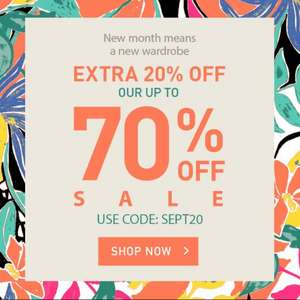 Up to 70% Off Sale + Extra 20% Off with code (+£2.95 delivery) @ Yumi