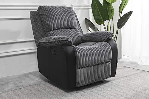 Furnituremaxi Jumbo Cord Recliner Armchair with Padded Seat Manuall Reclining Sofa - £164.99 @ Amazon