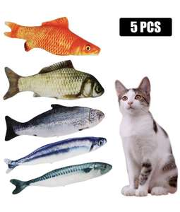 SLSON 5PCS Cat Chewing Toys Fish 30cm £5.58 - Sold by SLSON and Fulfilled by Amazon (+£4.49 Non-prime)