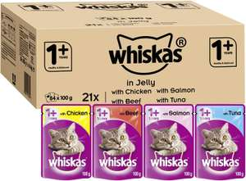 Whiskas Wet food pouches 84 x 100g £17.79 @ Amazon (+£4.49 Non-prime)