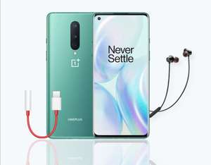 OnePlus 8 256GB 12GB Smartphone Green + Free Headphone Adapter (3.5mm) + Bullets Wireless Z - £599 @ OnePlus