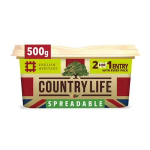 Country Life British Spreadable 500g for £1.62 @ Iceland