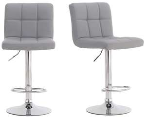 Pair of Cuban Bar Stools Set with Backrest, Leatherette Exterior,Swivel Gas Lift - £64.99 @ Amazon dispatched & sold by Oaklands Technology