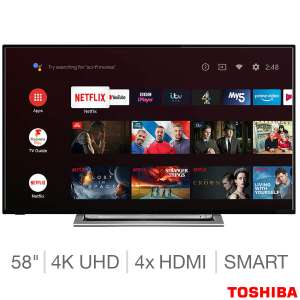 Toshiba 58UA3A63DB 58 Inch 4K Ultra HD Smart Android TV with Sound by Onkyo £399.99 at Costco