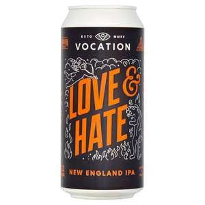 33% Off 440ml High ABV Quality Craft Beers, e.g. Vocation Love & Hate, Brewdog vs Cloudwater £2 @ Tesco