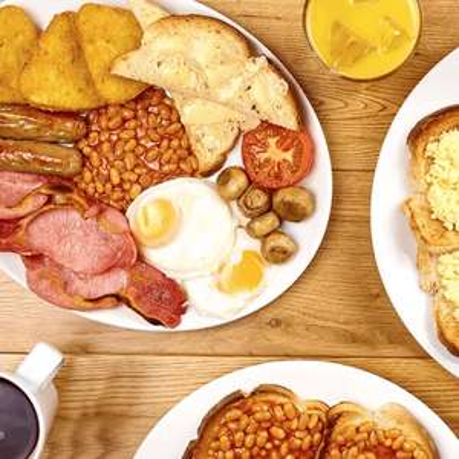 BOGOF breakfast Mon to Fri e.g. 2 x Full English Breakfast £3.49 (£1.75 each) @ Hungry Horse