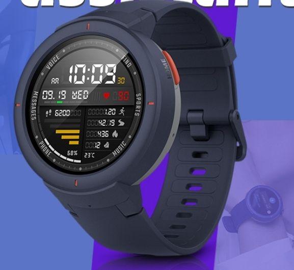 AMAZFIT Verge Multifunctional IP68 Waterproof Practical Smart Watch - £76.99 @ GearBest