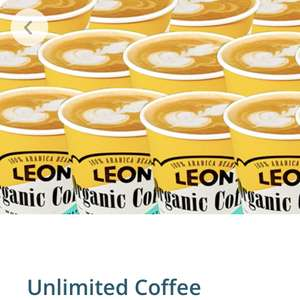 30 days of unlimited coffee at Leon for £15 - maximum of 75 coffees within a 30 day period on Smart Order