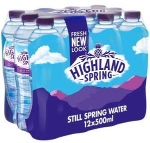 Highland Still Spring Water 12 x 500ml - £2 @ Tesco