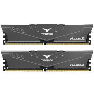 TEAM GROUP Vulcan Z T-Force 16GB (2x8GB) DDR4 PC4-25600C16 3200MHz Dual Channel Kit - Grey £58.69 delivered @ overclockers