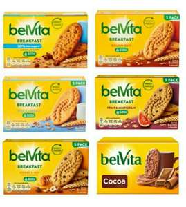 Belvita Biscuits 225g - Chocolate Chip / Honey & Nut / Golden Oats / Milk & Cereal / Fruit & Multigrain / Reduced Sugar - 99p @ Tesco