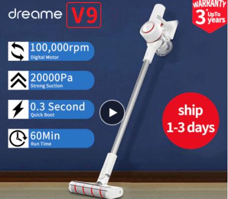 Dreame V9 Original Vacuum Cleaner Handheld Wireless Acarid-Killing Strong Suction 400W High-Power £122.99 AliExpress Superlative Store