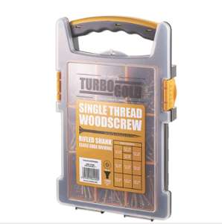 Turbogold pz double self-countersunk woodscrews trade grab pack 1000 pcs - £14.99 @ Screwfix