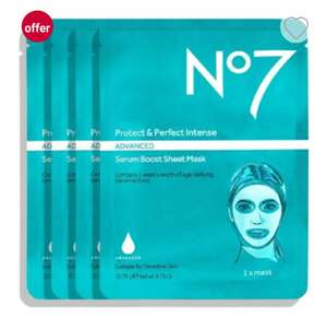 3 FOR 1 No7 beauty face masks £25 - Boots Free click and collect Advantage card account specific?