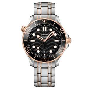 OMEGA Seamaster Diver 300m Steel and 18ct Sedna Gold Automatic BEAVERBROOKS - £6982