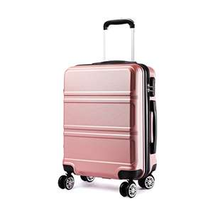 Kono 20 inch Cabin Suitcase Lightweight ABS Carry-on Hand Luggage 4 Spinner Wheels Trolley Case 55x40x22 cm £23.99 delivered at Amazon