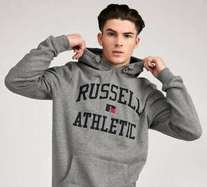 Mens Russell Athletic Monroe Arch Logo Hooded Top Grey - £11.99 delivered @ bigbrandoutlet2015 / ebay